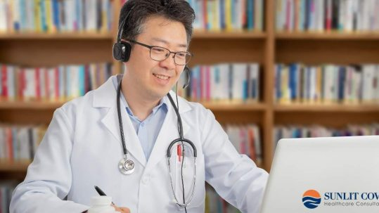 telehealth access, doctor on computer